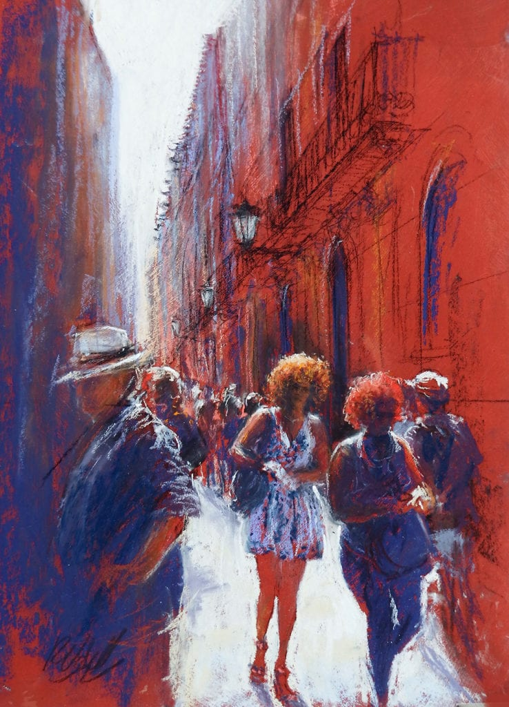 Barcelona oil painting